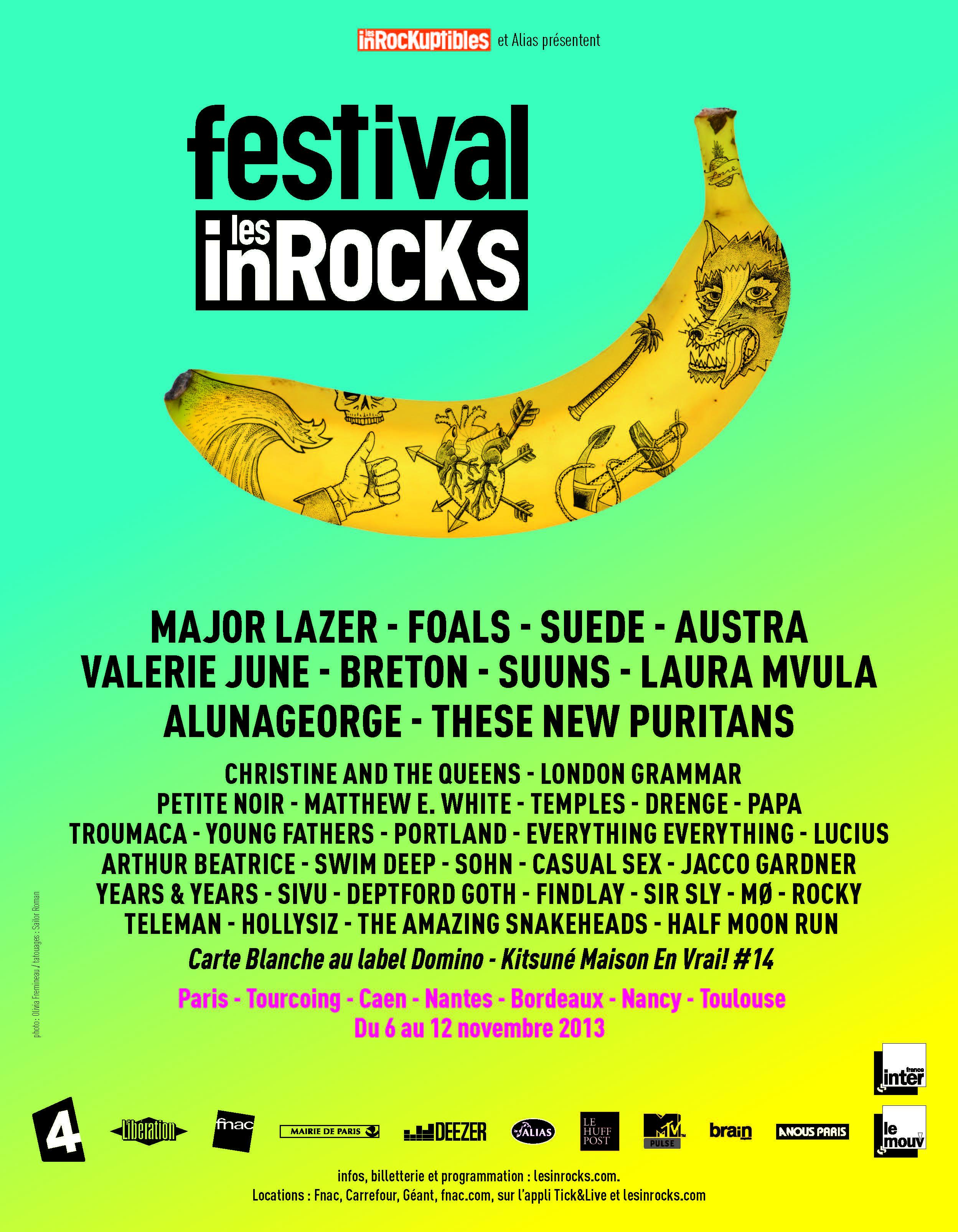 Festival des InRocKs // Du 6 au 12 novembre 2013